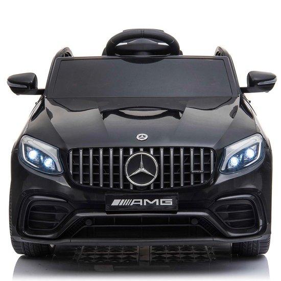 Elektrische kinderauto Mercedes-Benz GLC 63S zwart voor kinderen tot en met 9 jaar oud